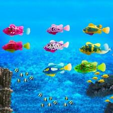 8Pcs Interactive Swimming Robot Cute Clown Fish Colorful Cat Toy with LED Light