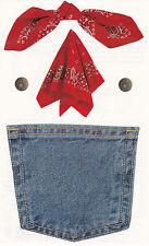 Mrs. Grossman's Giant Stickers - Photo Jean Pocket - Red Bandana - 2 Strips