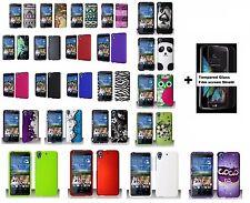 HTC Desire 626 626s Hard Case Phone Cover + Tempered Glass Film Screen Shield