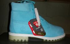 NEW TIMBERLAND KIDS  6-INCH TPU OUTSOLE PREMIUM WATERPROOF TEAL BOOTS SIZE 6.5