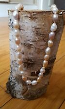 Hand crafted pearl knotted multi coloured 925 baroque freshwater pearl necklace