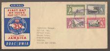 1955 JAMAICA Tercentenary Year Flown by B.O.A.C FDC