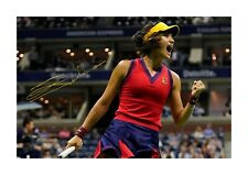 More details for emma raducanu 3 a4 tennis reproduction autograph poster with choice of frame