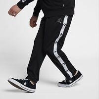 Converse Star Chevron Track Pants Men's New Black White Trousers 10006733-001