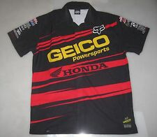 '10 GEICO HONDA AMSOIL FACTORY CONNECTION RACING EMPLOYEE PIT SHIRT L supercross