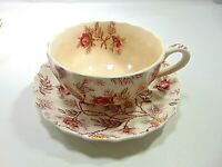 COFFEE STAIN...ROSEBUD CHINTZ COPELAND SPODE ...CUP SAUCER