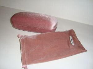 Miu Miu Velvet / Velour Sunglasses Eye glasses Case & Pouch Pink Large Used
