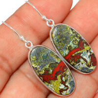 Dragon Blood Stone - South Africa 925 Sterling Silver Earrings BE3477 XGB