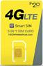 New H2O SIM Card Wireless 3-in-1 Triple Mini Micro Nano 4G LTE Smart Starter