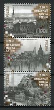 Poland 2018 MNH Lost Works of Art 3v Strip Churches Architecture Stamps