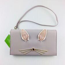 Kate Spade Make Magic Bunny Rabbit Cali Clutch Crossbody Bag Leather Shoulder