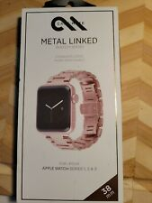 Case-Mate 38/40mm Metal Linked Watch Band Apple Watch RoseGold(Series 1,2,3,4)