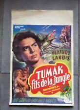 "Superbe affiche de cinéma 53 X 36 cm ""Tumak fils de la Jungle""an'50 V. Mature"