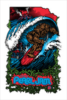Giant Big 2009 Pearl Jam Seattle 2XL Poster Print Amesbros Home Show Edition 100