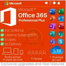 Microsoft Office 365 LIFETIME MS® Account Subscription 5 Users PC/Mac