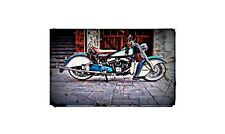 1950 Indian Chief Roadster Bike Motorcycle A4 Retro Metal Sign Aluminium