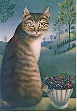POSTCARD / CARTE POSTALE ILLUSTRATEUR Z. SZALOWSKA / LES YEUX VERTS / CAT CHAT