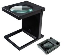 """5X GIANT MAGNIFIER ILLUMINATED MAGNIFYING GLASS DESK 4"""""""