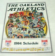 1984 Budweiser Oakland A's Schedule Poster 17 x 22