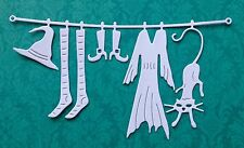 Cheery Lynn Witch's Laundry Die Cuts (pack of 6) White