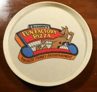 Vintage 70s Scooby's Fun Factory Pizza Restaurant Serving Tray Pizza Scooby Doo