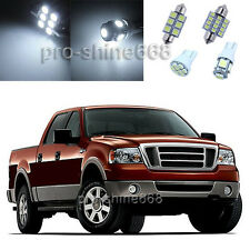 White SMD Interior 5X LED Lights Combo for Ford F 150 Supercrew Cab 2004 2008