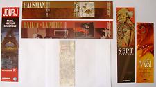 LOT DE 6 EX LIBRIS MARQUE PAGE DIFFERENTS