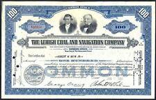 1951 certificado de acciones de la empresa de navegación Lehigh Carbón &. Free UK Post
