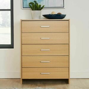 Chest of Drawers Oak Bedroom Furniture 5 Drawer B Seconds