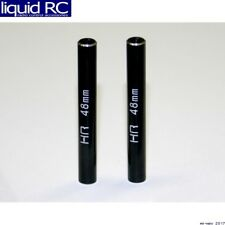 Hot Racing RCL64801 Aluminum Standoff Post Link 6x48mm w/ M3 Threads (Black)(2)