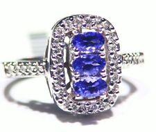 2.93CT 14K Gold Natural Tanzanite Diamond Vintage AAA Art Deco Engagement Ring