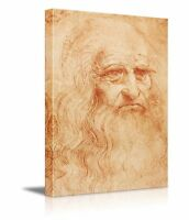 "Self Portrait by Leonardo Da Vinci - Wall26 - Canvas Print Wall Art - 12"" x 18"""