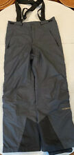 Columbia L Titanium Omni-Tech WATERPROOF Snow Ski Snowboarding Suspender PANTS