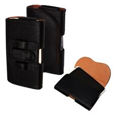 Leather Belt Clip Pouch Wallet Flip Case Cover Holder Mobile Phone Protector Bag