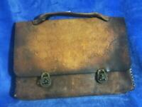 Vintage Leather Satchel / FREE SHIPPING