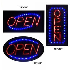 Alpine Industries Red & Blue Led Lighted Business Shop Cafe Hanging Open Sign