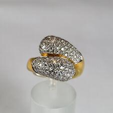 Brillant Ring 2,05ct Gelbgold 750 Größe 57 Handarbeit aus Italien