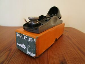 Vintage Stanley 60 1/2 Low Angle Block Plane, Boxed, Adjustable throat