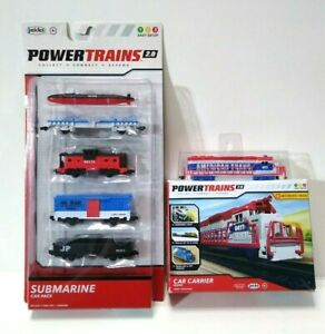 JAKKS Pacific - Power Trains 2.0 - Submarine Car Pack and Car Carrier Engine