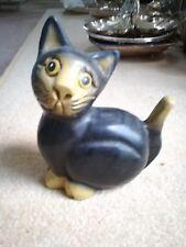 "Cat Ornament Figure 6 1/4"" wood/resin"