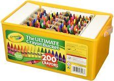 Crayola Ultimate Crayon Bucket 200 Crayons (Art Supplies Preschool Homeschool)