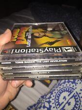 Tomb Raider 1,2,3 & Revelations Lot Black PS1 PlayStation 1 Complete I II III