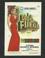 SHE - LA DEESSE DE FEU (URSULA ANDRESS) PROGRAMME ESPAGNOL D'ORIGINE