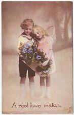 * RAPHAEL TUCK - A Real Love Match - Little Sweethearts #525 - c1910s era