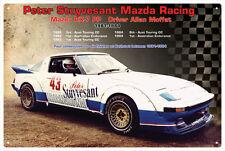 MAZDA RX7 ALLAN MOFFAT CAR VINTAGE TIN SIGN 20x 30cm