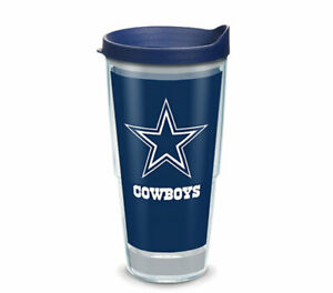 DALLAS COWBOYS, 24oz DOUBLE WALL, TUMBLER FROM TERVIS  WITH LID INCLUDED
