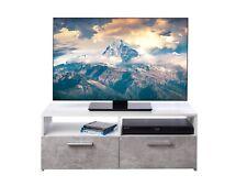 TV-Lowboard Schrank Board Rack Fernsehtisch Fernsehschrank Fächer Klappen Grau