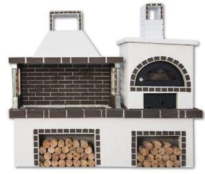Gartenküche Outdoorkitchen Barbecue Set Grillkamin mit cyclothermischem Ofen
