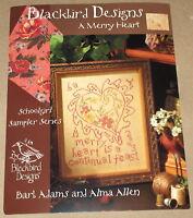 """Blackbird Designs """"A Merry Heart"""" Schoolgirl Samplers #2 Cross Stitch Pattern"""