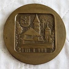 LATVIA  CITY OF JURMALA 64mm BRONZE MEDAL